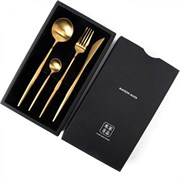 Набор столовых приборов Xiaomi Stainless Steel Modern Flatware Set (Gold)